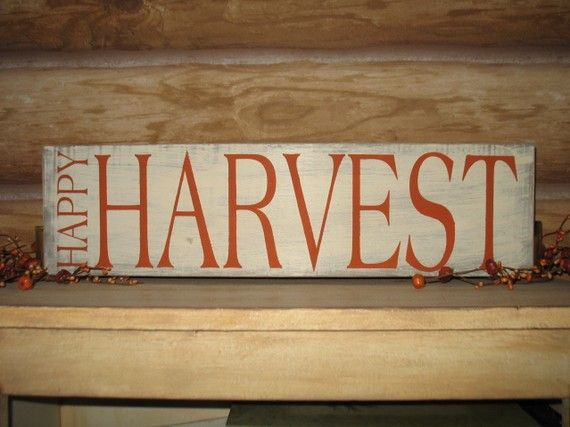 Happy Harvest-Fall Decor/Thanksgiving Decor /Fall Wood Sign ...