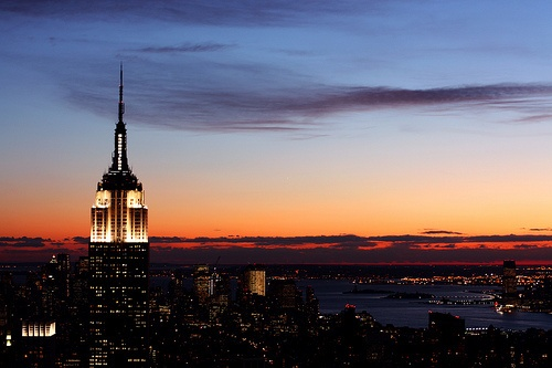empire state building sunset - photo #9