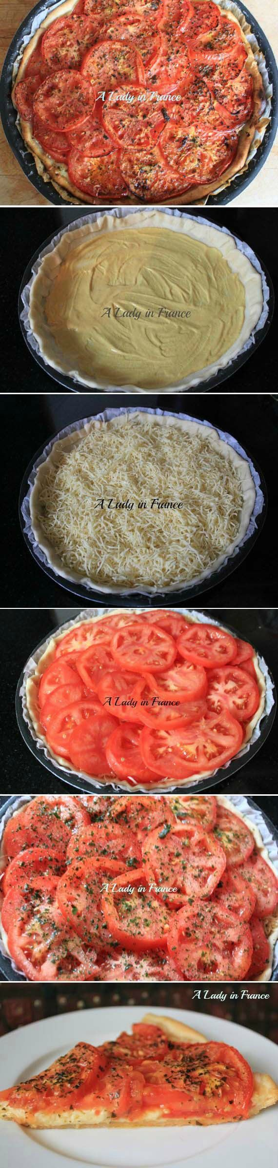 This French tomato tart is resh, easy and delicious! Plus the mustard ...