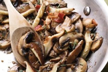 Sauteed Rosemary Mushrooms | Fatship | Pinterest