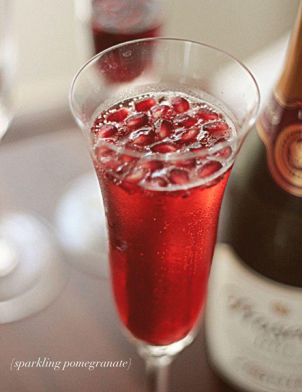 Holiday recipe Sparkling Pomegranate | yumm-o! | Pinterest