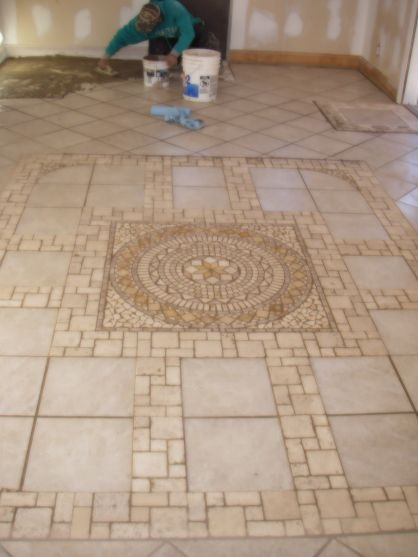 Is A Heated Stone Tile Floor In A Sun Room I Laied This Floor F