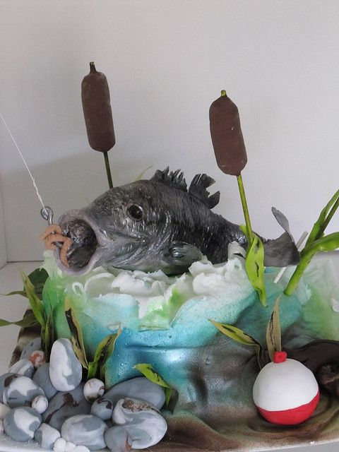 inter-active fishing cake by schmish, via Flickr