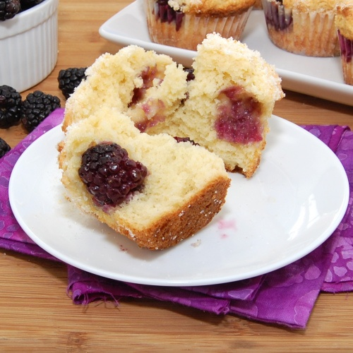 Lemon Ricotta Blackberry Muffins | Recipe