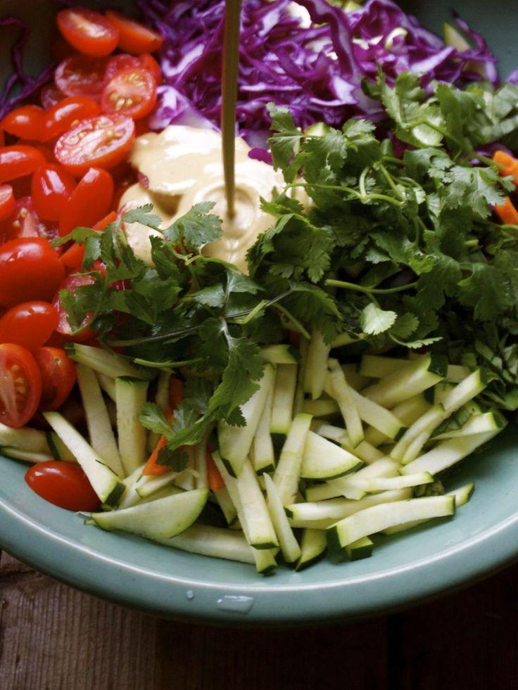 Thai Vegetable Slaw with Sriracha, Lime & Nut Butter Dressing | In ...