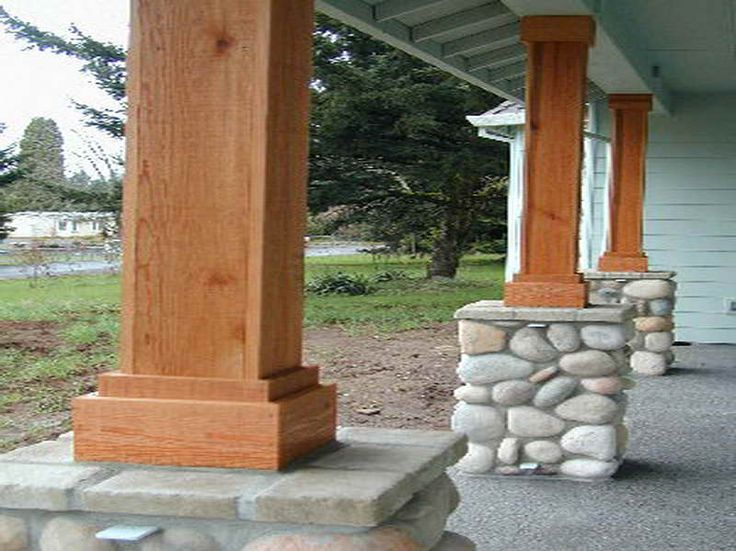 front porch columns without that stone barns and ideas