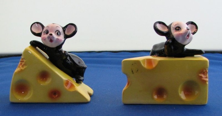 rubylane.com, mice & cheese salt and pepper shakers