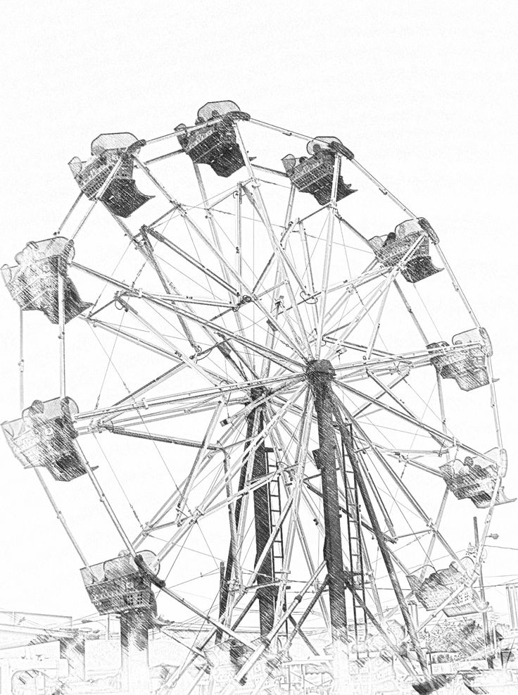 Ferris Wheel Sketch Templates