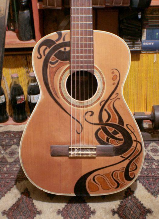 Guitar Designs Art : Guitar awesomeness cool art pinterest