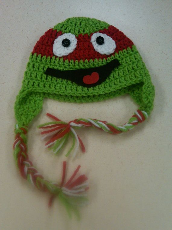 Crochet Ninja Turtle : Crochet Ninja Turtle Hat by BeeSweetBoutique12 on Etsy, $18.00