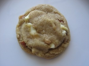 Toasted Pecan, White Chocolate and Toffee Chip Cookies