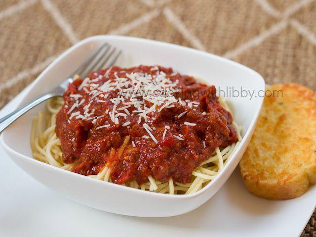 Spaghetti Sauce {Slow Cooker} | Slow cooker | Pinterest