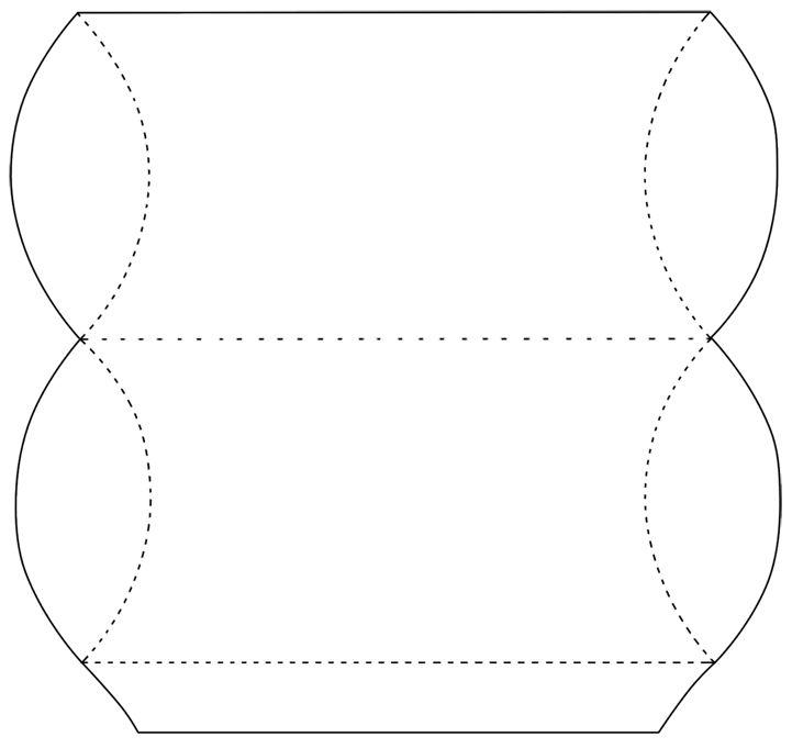 pillow box | Templates, Patterns Div | Pinterest