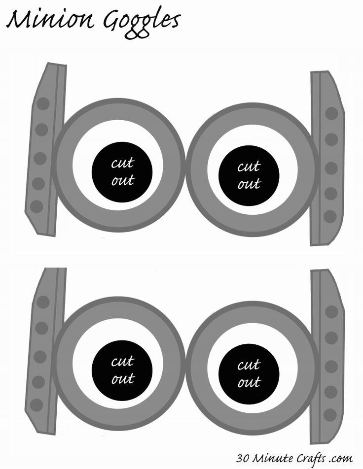 Minion Mouth Printable Images Similiar Printable Minion Goggles