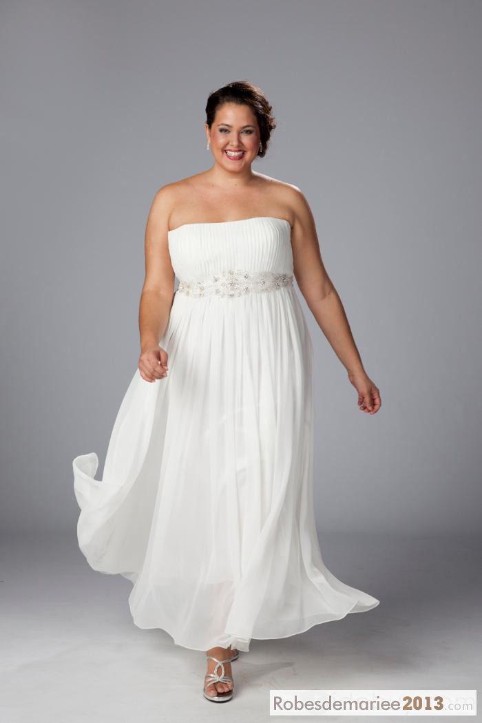 ... Somptueuse bretelles perlée & Ruffles Taille Plus robe de mariée
