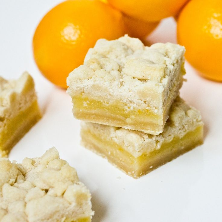 Meyer Lemon Shortbread Bars- Another recipe with NO nutrition info so ...