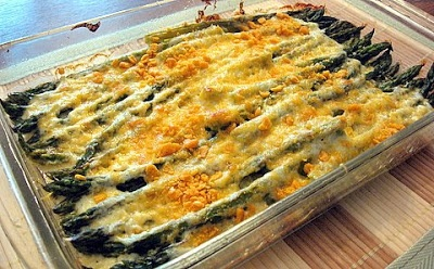 Asparagus Gratin This is a great sounding recipe. My 88+ year old mom ...