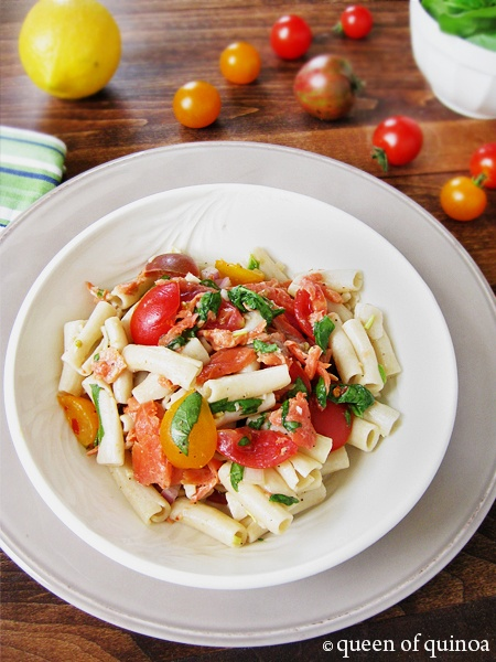 Smoked Salmon Pasta Salad | Good cooks season with love | Pinterest