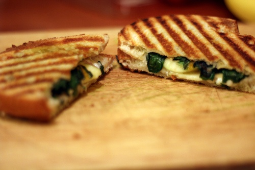 Sauteed Swiss Chard & Gruyere Grilled Cheese from Sprouted Kitchen!