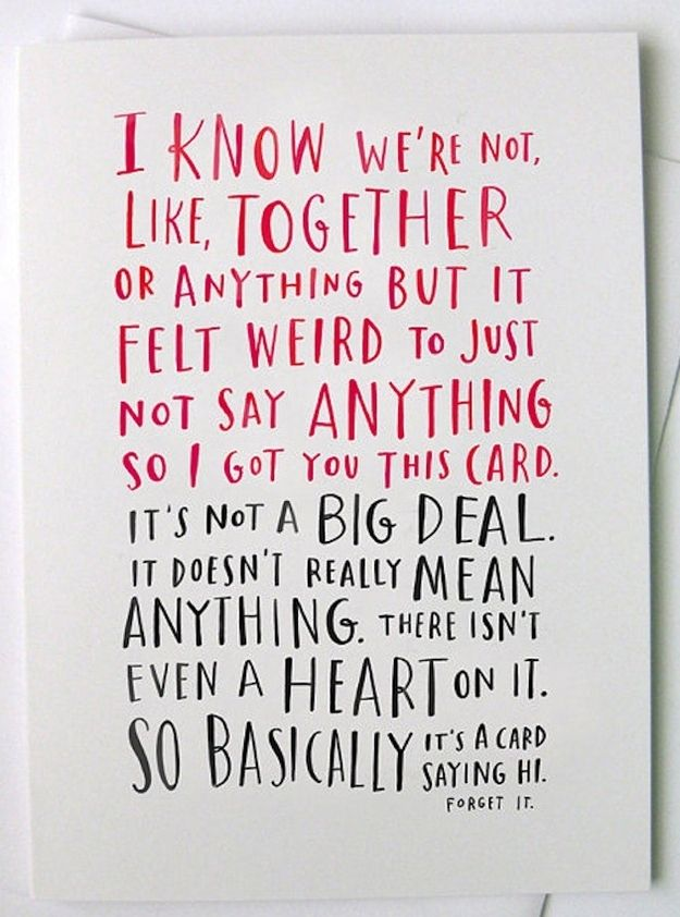 42 honest Valentine's cards.