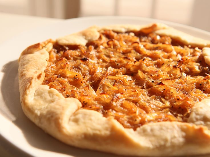 Onion Tart - potatoes, carmelized onions, cheese all in a pie ...