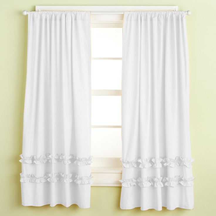 White Ruffle Blackout Curtains White 100 Polyester Large Waterfall Ruffle Blackout Curtain 5