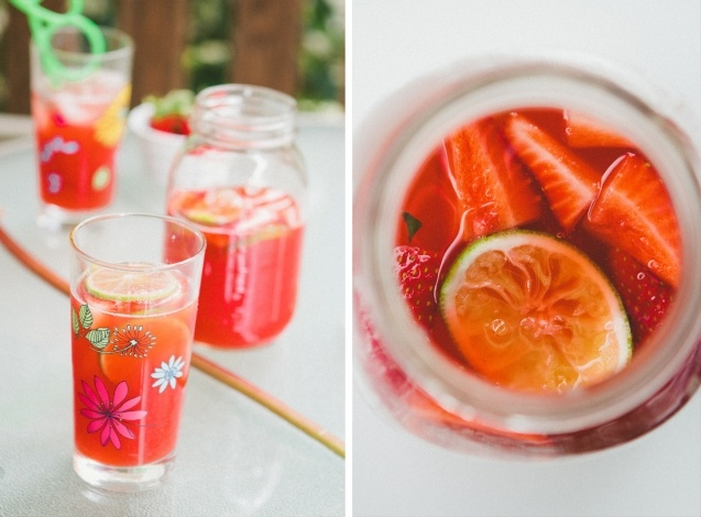 Rhubarb & Strawberry Limeade | Cheers! | Pinterest