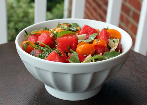 Watermelon, Tomato, and Four-Herb Salad | Recipe