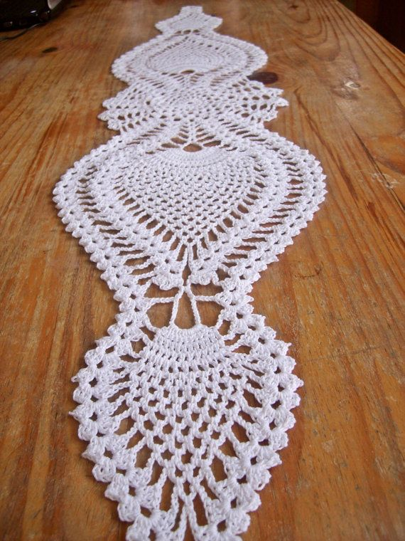 Free Thread Crochet Patterns For Table Runners : Set of 2 small little doilies crocheted crochet doily