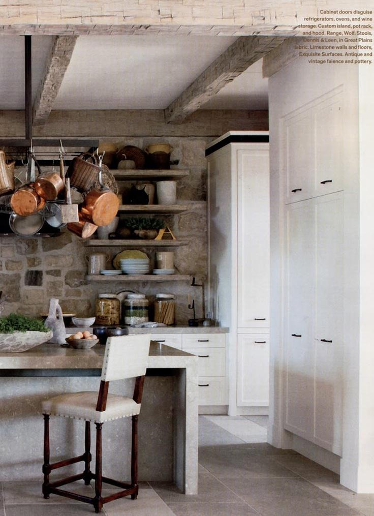 stone wall kitchen by richard hallberg beautiful homes