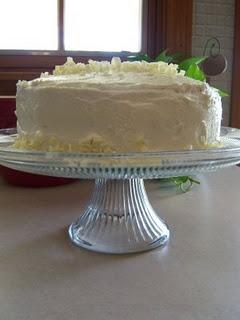 white chocolate amaretto cream cake | food | Pinterest