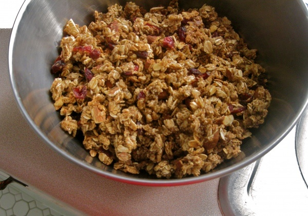 apple cinnamon granola. but, you know, without the allergy-inducing ...