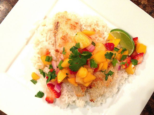 Poached Tilapia With Strawberry-Pineapple Salsa Recipes — Dishmaps