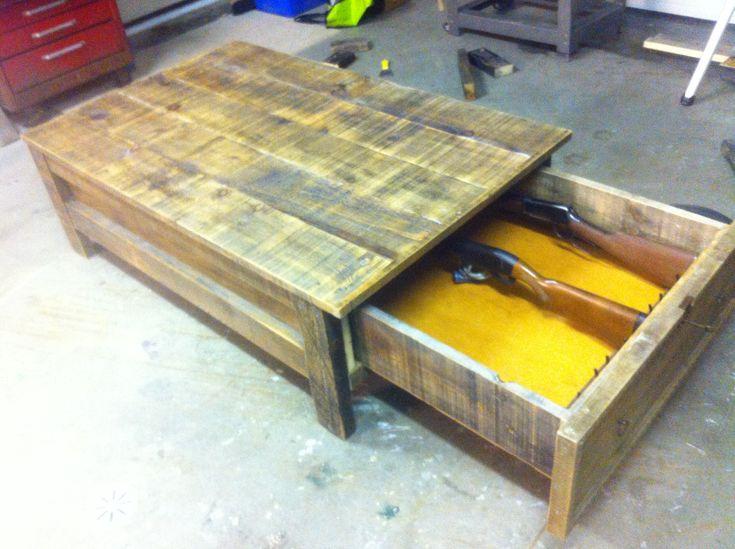 coffee table gun cabinet stuff to make