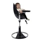 Bloom Black Fresco Loft High Chair With Snakeskin Black Seat Pad