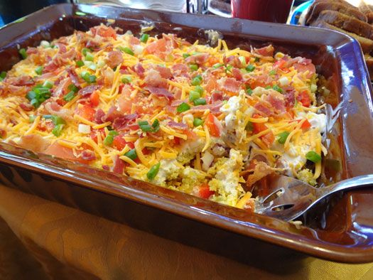 This CHILI CORN BREAD SALAD is unlike anything I have ever made, but I ...