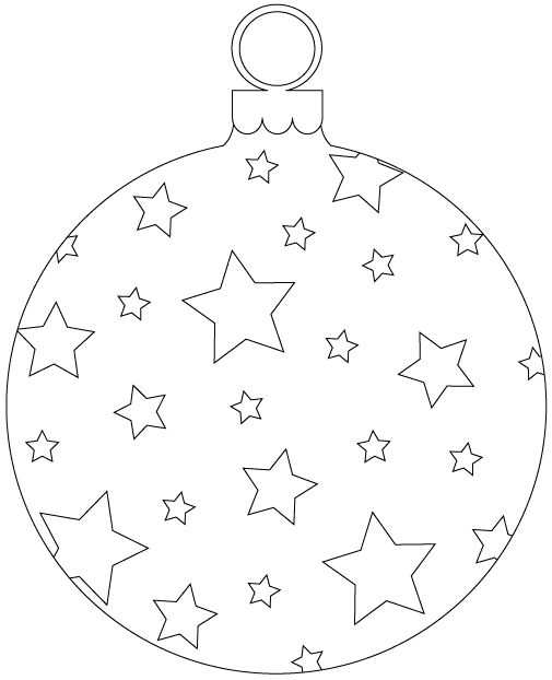 coloring pages christmas baubles hanging - photo#24