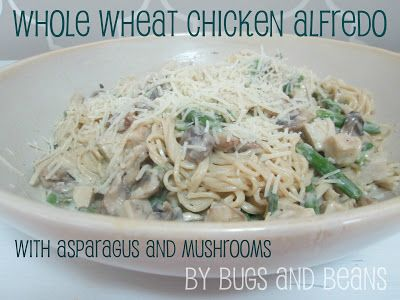 Whole-Wheat Linguine With Mushrooms And Asparagus Recipe — Dishmaps