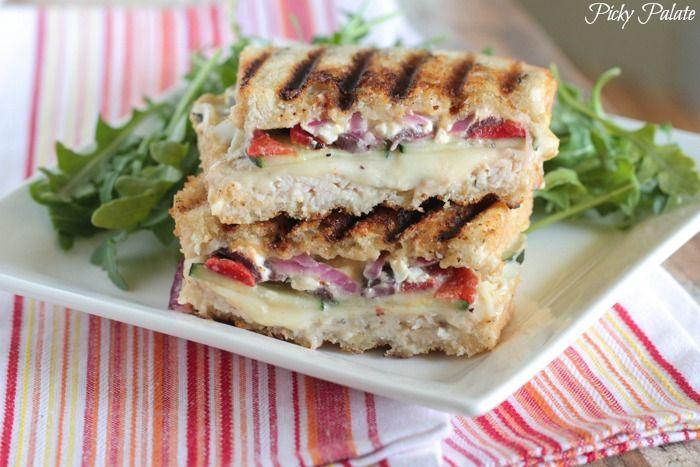 Loaded Turkey and Hummus Mediterranean Panini | Recipe