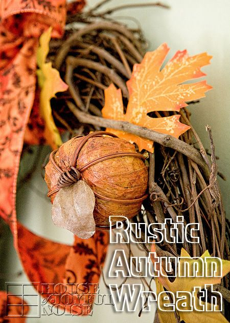 A very simple craft on how to make a rustic Autumn wreath for your home decor.   #autumn decor #autumn home decor #autumn-crafts #autumn-wreath-tutorial #autumn-wreaths #fall-crafts #fall-decor #fall-home-decor #fall-wreath-tutorial #fall-wreaths #seasonal-crafts #seasonal-decor #seasonal-wreaths houseofjoyfulnoise.com