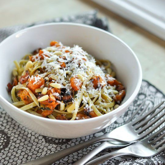 recipe fettuccine with roasted butternut squash brown butter amp sage ...