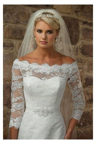 Romantic lace overlay wedding dress for Wedding dress lace overlay