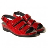 red, hard to find cute sandals