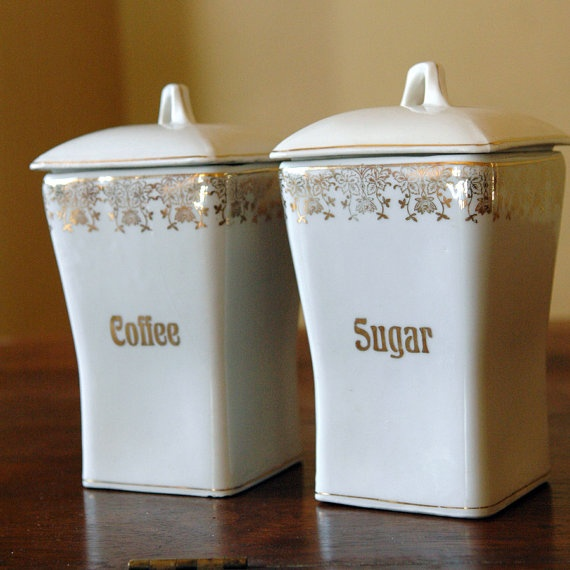 vintage german ceramic canisters kitchen canisters