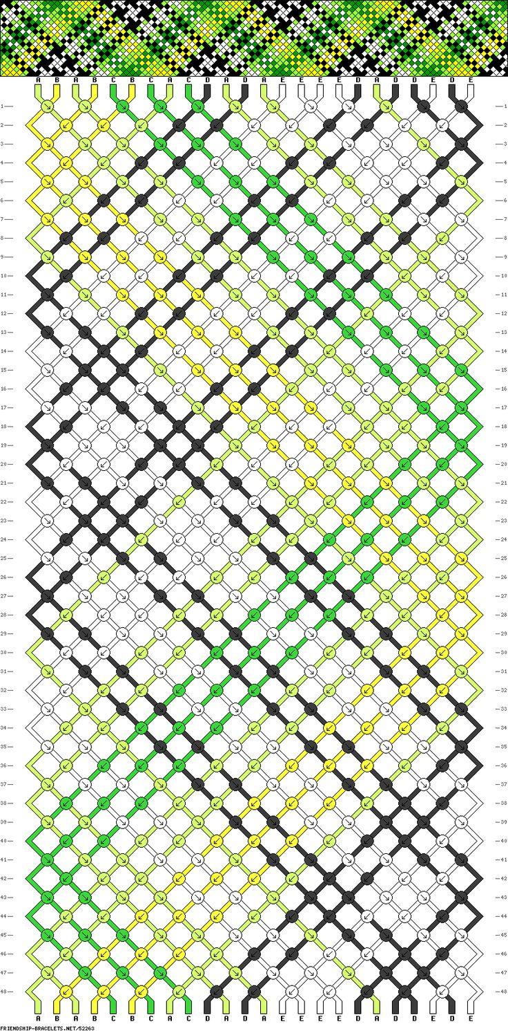 Схемы плетения фенечки шотландки