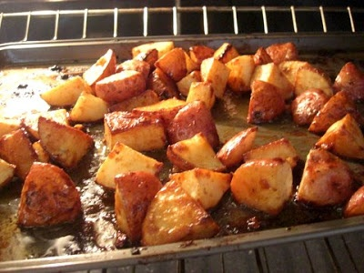 Honey Roasted Red Potatoes-1 lb red potatoes, 2 tbsp onion, 2 tbsp ...