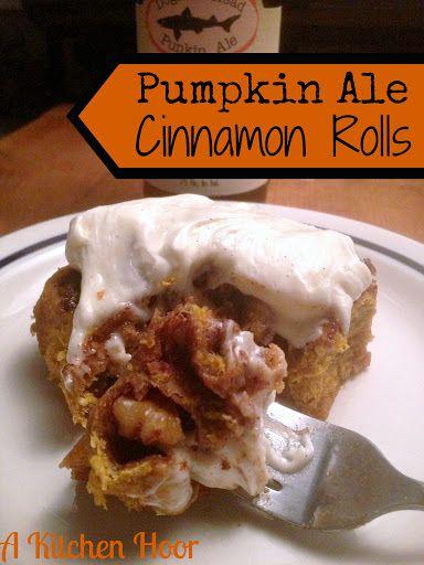 Kitchen Hoor's Adventures: Pumpkin Ale Brioche Cinnamon Rolls - A ...