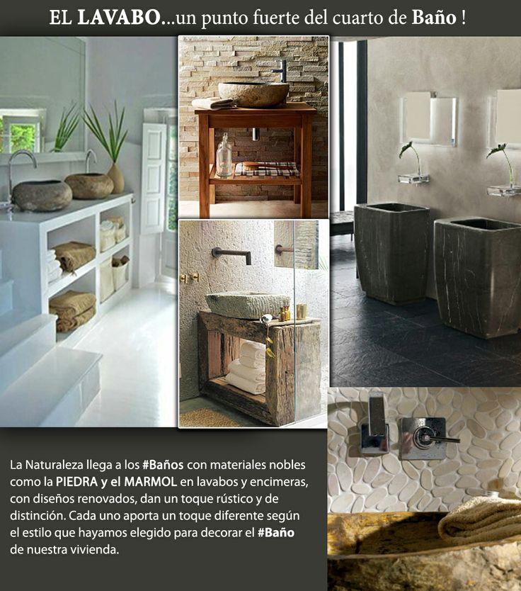 Lavabos Para Baño De Piedra: muebles lavabo: #Lavabos de #baño en Piedra y Mármol #decoración