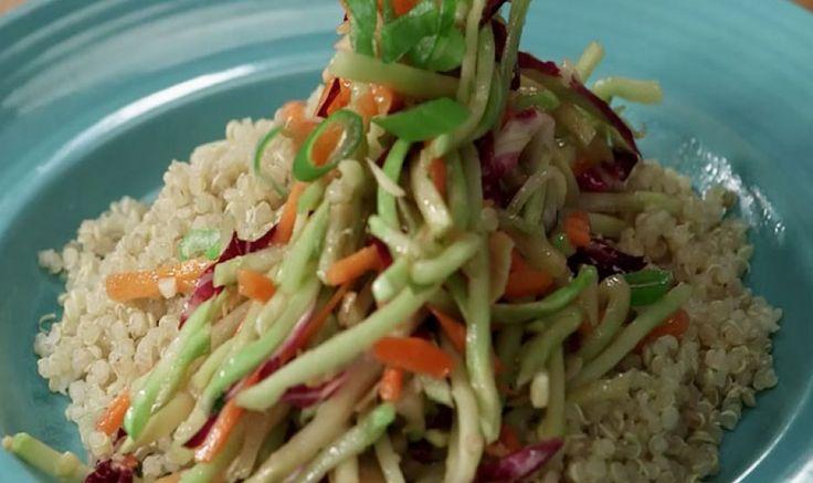 Asian Broccoli Slaw with Quinoa Recipe Video - Shape Magazine