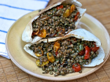 lentil with roasted tomato | Foodie Foods | Pinterest